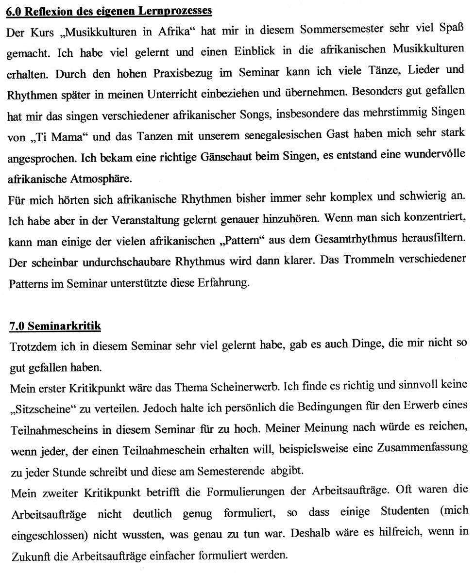 Zwischenergebnis SS 2003: